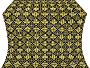 Vera silk (rayon brocade) (black/gold)