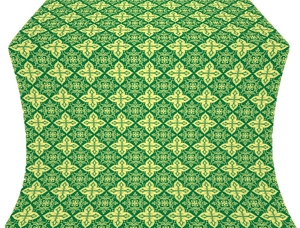 Vera silk (rayon brocade) (green/gold)