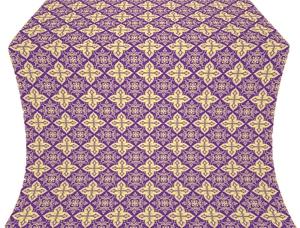 Vera silk (rayon brocade) (violet/gold)