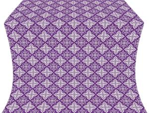 Vera silk (rayon brocade) (violet/silver)