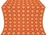 Vera silk (rayon brocade) (red/gold)
