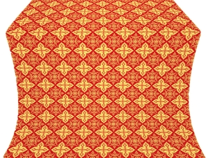 Vera silk (rayon brocade) (red/gold)