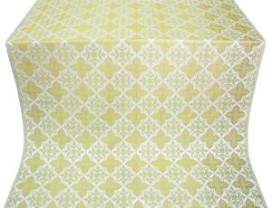 Vera silk (rayon brocade) (white/gold)