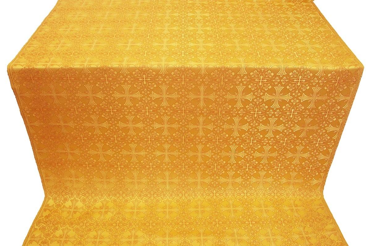 Cornflower Metallic Brocade Yellowgold Istok Church Supplies Corp