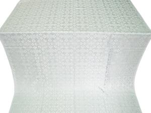 Cornflower metallic brocade (white/silver)
