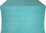 Cornflower silk (rayon brocade) (blue/gold)