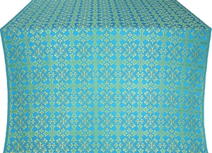 Cornflower silk (rayon brocade) (blue/gold)