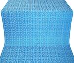 Cornflower silk (rayon brocade) (blue/silver)