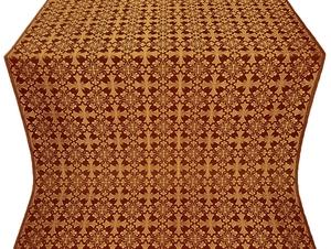 Cornflower silk (rayon brocade) (claret/gold)