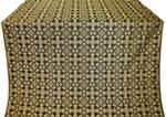 Cornflower silk (rayon brocade) (black/gold)