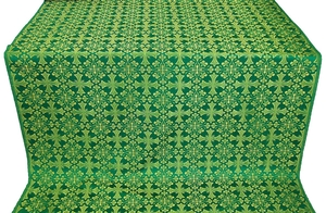Cornflower silk (rayon brocade) (green/gold)