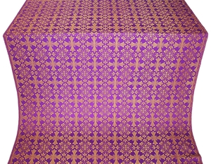 Cornflower silk (rayon brocade) (violet/gold)