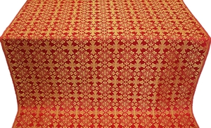 Cornflower silk (rayon brocade) (red/gold)