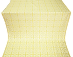 Cornflower silk (rayon brocade) (white/gold)