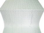 Cornflower silk (rayon brocade) (white/silver)