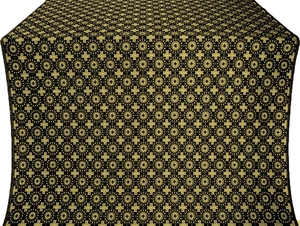 Mira Lycia silk (rayon brocade) (black/gold)
