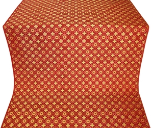 Mira Lycia silk (rayon brocade) (red/gold)