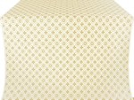 Mira Lycia silk (rayon brocade) (white/gold)