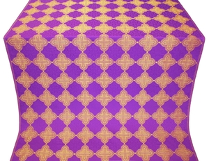 Kolomna metallic brocade (violet/gold)