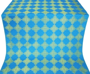 Kolomna silk (rayon brocade) (blue/gold)