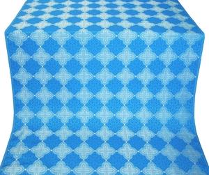 Kolomna silk (rayon brocade) (blue/silver)