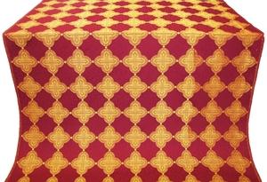 Kolomna silk (rayon brocade) (claret/gold)