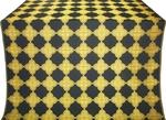 Kolomna silk (rayon brocade) (black/gold)