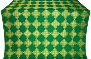 Kolomna silk (rayon brocade) (green/gold)