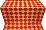 Kolomna silk (rayon brocade) (red/gold)