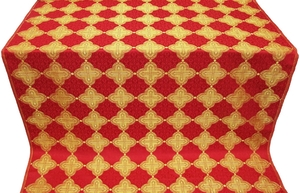 Kolomna silk (rayon brocade) (red/gold)