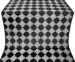 Kolomna silk (rayon brocade) (black/silver)