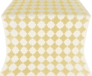 Kolomna silk (rayon brocade) (white/gold)