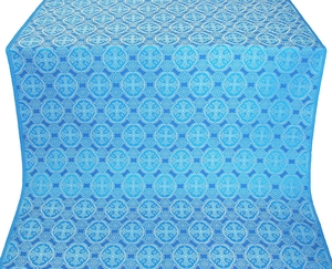 Paschal Egg metallic brocade (blue/silver)