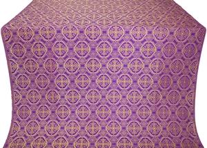 Paschal Egg metallic brocade (violet/gold)