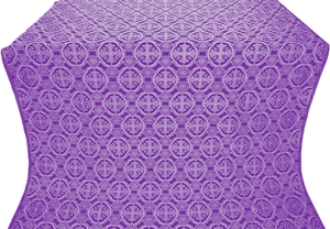 Paschal Egg metallic brocade (violet/silver)