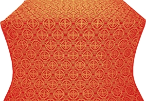 Paschal Egg metallic brocade (red/gold)