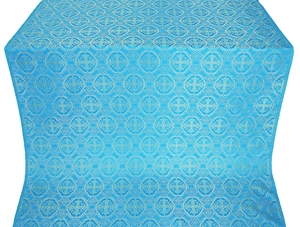 Paschal Egg silk (rayon brocade) (blue/gold)