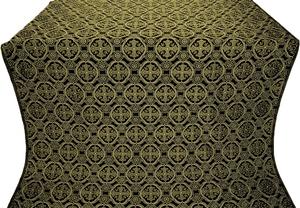 Paschal Egg silk (rayon brocade) (black/gold)