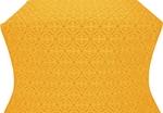Paschal Egg silk (rayon brocade) (yellow/gold)