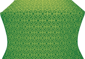 Paschal Egg silk (rayon brocade) (green/gold)