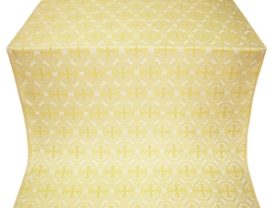 Paschal Egg silk (rayon brocade) (white/gold)