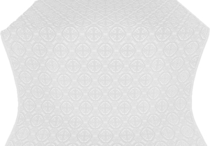 Paschal Egg silk (rayon brocade) (white/silver)