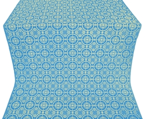 Posad silk (rayon brocade) (blue/gold)