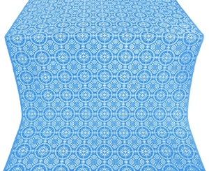 Posad silk (rayon brocade) (blue/silver)
