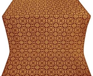 Posad silk (rayon brocade) (claret/gold)