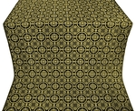 Posad silk (rayon brocade) (black/gold)