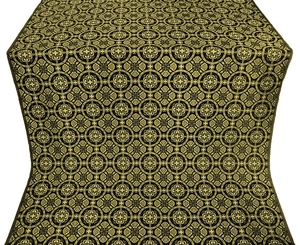 Posad silk (rayon brocade) (black/gold)