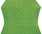 Posad silk (rayon brocade) (green/gold)