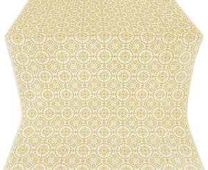 Posad silk (rayon brocade) (white/gold)