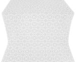 Posad silk (rayon brocade) (white/silver)